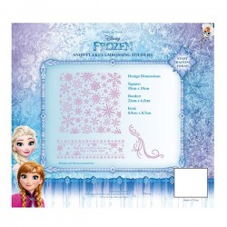 (EFDL005)Disney Frozen - Snowflakes Embossing Folder