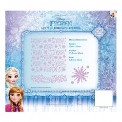 (EFDL004)Disney Frozen - Let It Go Embossing Folder