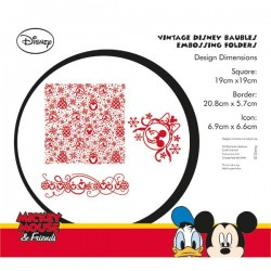 (EFDL003)Disney Disney Vintage Baubles Embossing Folder