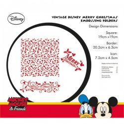 (EFDL002)Disney Vintage Mickey & Minnie Christmas Embossing Fold
