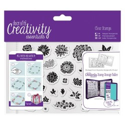 (DCE907120)Docrafts A6 Clear Stamp Set (30pcs) - Trad Floral