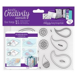 (DCE907129)Docrafts A6 Clear Stamp Set (20pcs) - Paisley