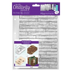(DCE907132)Docrafts A5 Clear Stamp Set (1pcs) - Wooden Boards Ba