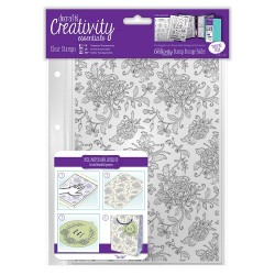 (DCE907127)Docrafts A5 Clear Background Stamp (1pc) - Floral Bac