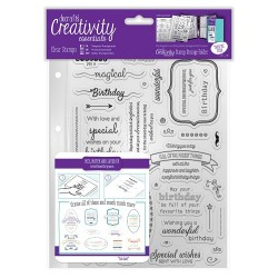 (DCE907126)Docrafts A5 Clear Stamp Set (39pcs) - Birthday Verses