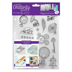 (DCE907125)Docrafts A5 Clear Stamp Set (16pcs) - Steampunk
