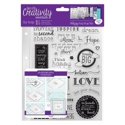 (DCE907124)Docrafts A5 Clear Stamp Set (31pcs) - Inspirational S