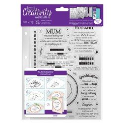 (DCE907109)Docrafts A5 Clear Stamp Set (30pcs) - Verses