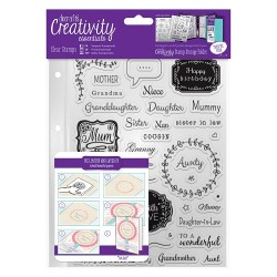 (DCE907108)Docrafts A5 Clear Stamp Set (40pcs) - Female Family