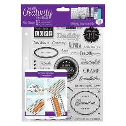 (DCE907104)Docrafts A5 Clear Stamp Set (36pcs) - Male Family