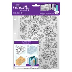 (DCE907103)Docrafts A5 Clear Stamp Set (1pcs) - Paisley Backgrou
