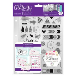 (DCE907102)Docrafts A5 Clear Stamp Set (45pcs) - Capsule - Geome