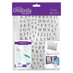 (DCE907116)Docrafts A5 Clear Stamp Set (129pcs) - Alphas Trad