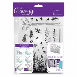 (DCE907114)Docrafts A5 Clear Stamp Set (20pcs) - Forest