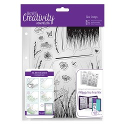 (DCE907113)Docrafts A5 Clear Stamp Set (15pcs) - Meadow