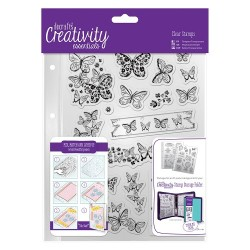 (DCE907111)Docrafts A5 Clear Stamp Set (16pcs) - Butterflies