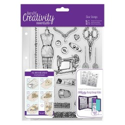 (DCE907107)Docrafts A5 Clear Stamp Set (19pcs) - Haberdashery