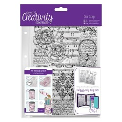 (DCE907106)Docrafts A5 Clear Background Stamp (1pc) - Musicality