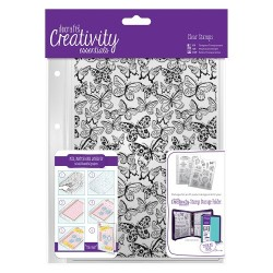 (DCE907105)Docrafts A5 Clear Background Stamp (1pc) - Butterflie