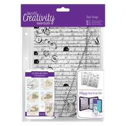 (DCE907101)Docrafts A5 Clear Background Stamp (1pc) - Haberdashe