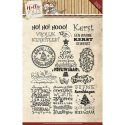 (YCCS10026)Clearstamp - Yvonne Creations - Holly Jolly - Tekst