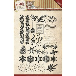 (YCCS10025)Clearstamp - Yvonne Creations - Holly Jolly