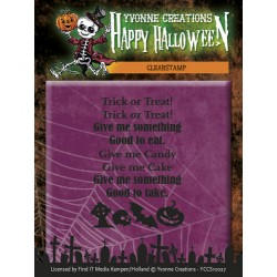 (YCCS10027)Clearstamp - Yvonne Creations - Happy Halloween