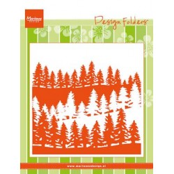 (DF3430)Marianne Design Embossing folder Forrest