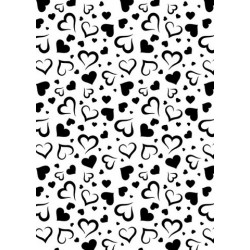 (NMMS002)Nellies Choice Plastic Mixed media stencil A5 - hearts