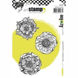 (SA60250)Carabelle cling stamp A6 fleurs d'azoline les pomponett