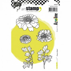 (SA60249)Carabelle cling stamp A6 fleurs d'alex by Azoline