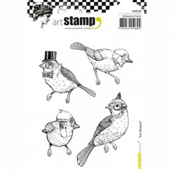 (SA60230)Carabelle cling stamp A6 les oiseaux