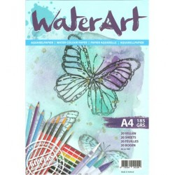 (1067)watercolor paper A4 20 sheets 185 grs