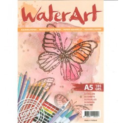 (1068)watercolor paper A5 30 sheets 185 grs