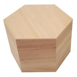 (8399)MDF hexagonal box with lid