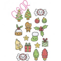 (OK4)C.C. Designs Stamp clear OK! Christmas Things
