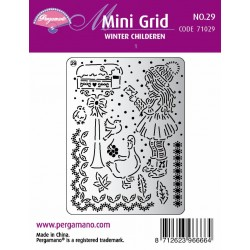 Pergamano Mini set grid 29 Winter Children 1 (71029)