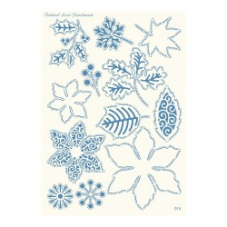 (PLG014)Parchment Lace Parchment Grid 14 Winter Flowers