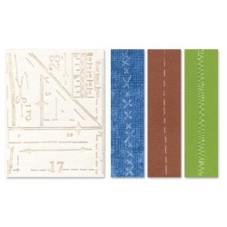 (657198)Embossing folders TH pattern&stitches