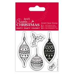 (PMA907246)Small Clear Stamps - Baubles