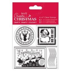"(PMA907244)4x4"" Clear Stamp - Postage Marks"