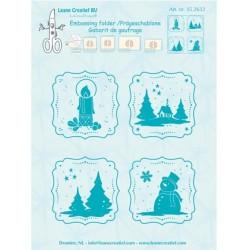 (35.2632)Embossing folder Frames Winter