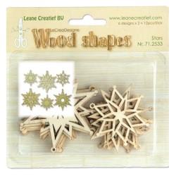 (71.2533)Leane Creatief Wood Shapes Stars