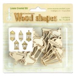 (71.2519)Leane Creatief Wood Shapes Lanterns