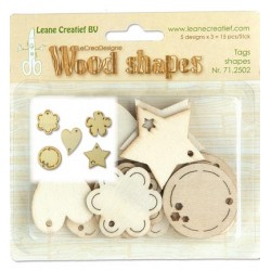 (71.2502)Leane Creatief Wood Shapes Tag shapes