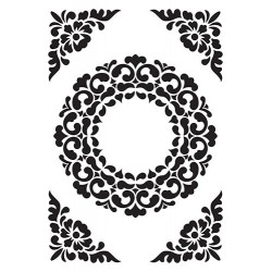 (VINF007)Nellie's Choice Embossing folder Ornament Frame