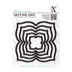 (XCU503413)Nesting Dies (5pcs) - Four Petal
