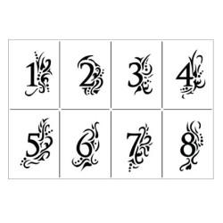 (9002.502.00)Viva Decor stencil A4 1-24