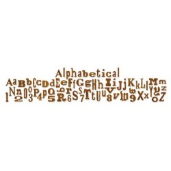 (657482)Decorative strip die TH alphabetical