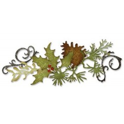 (657467)Decorative strip die TH festive greenery